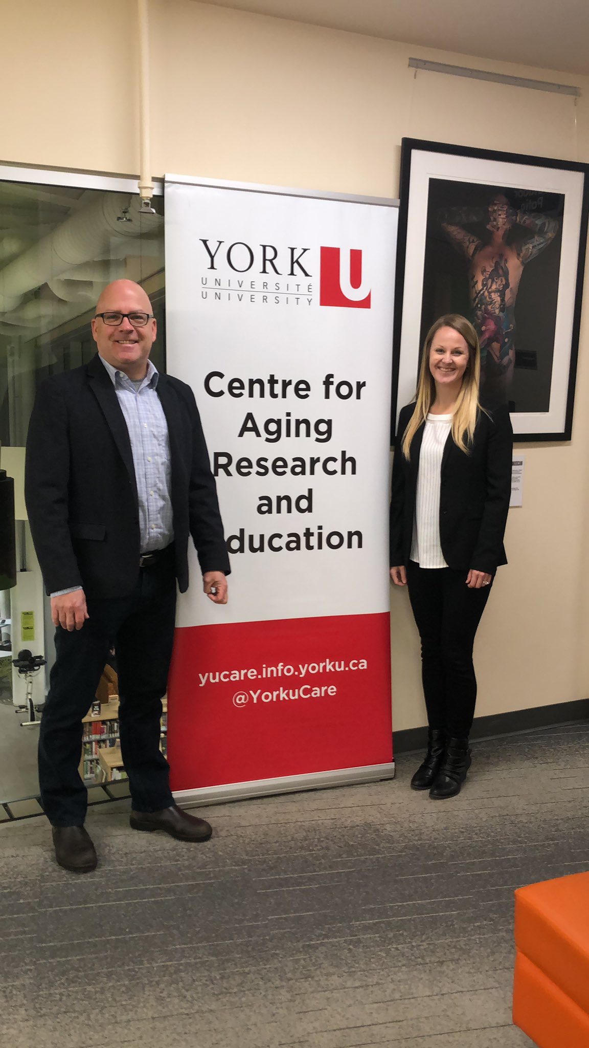 photo of Dr. Joe Baker and Dr. Jaclyn Hurley