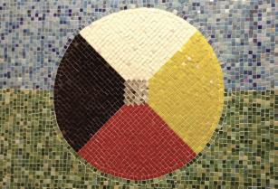 tile art of Indigenous Circle